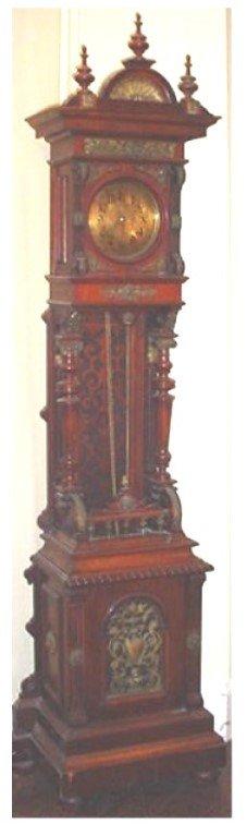 914: 19th.century GRANDFATHER COLOCK- MAHOGANY CASE WIT