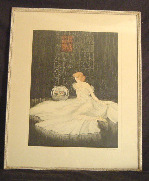 918: ART DECO ETCHING AND DRYPOINT, SIGNED COURCELLES,