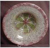 """1105: LARGE WMF IKORA ART GLASS BOWL 14"""" DIAMETER IKORA"""
