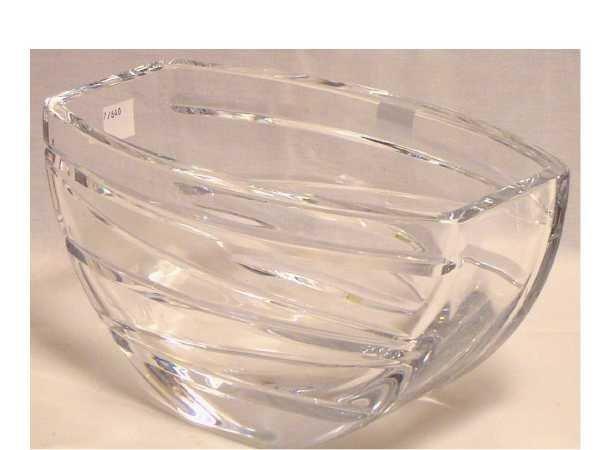 "9: SIGNED ORREFORS ART MODERNE CUT GLASS BOWL 9"""