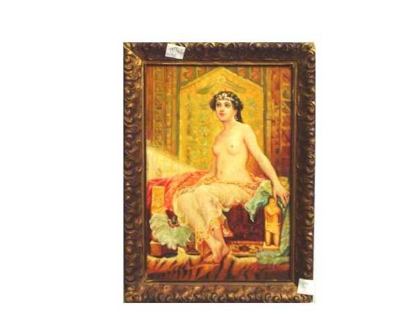 15: OIL ON PANEL, SIGNED GASTON BUSSIERE, YOUNG WOMAN I