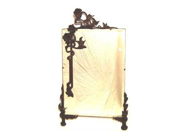 21: 1/303 CARVED WALNUT ART NOUVEAU MIRROR WITH OPEN WO