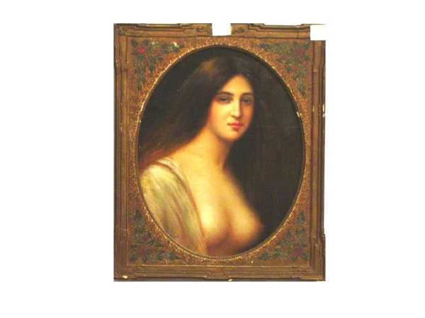 23: OIL ON PANEL, SIGNED ZIER, BEAUTIFUL SEMI NUDE WOMA