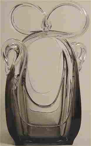 FREE FORM ART MODERNE GLASS VASE
