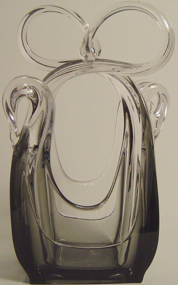 2: FREE FORM ART MODERNE GLASS VASE