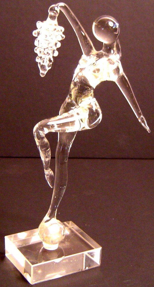 """5: MURANO GLASS DANCER WITH GRAPES, 7 1/2"""""""