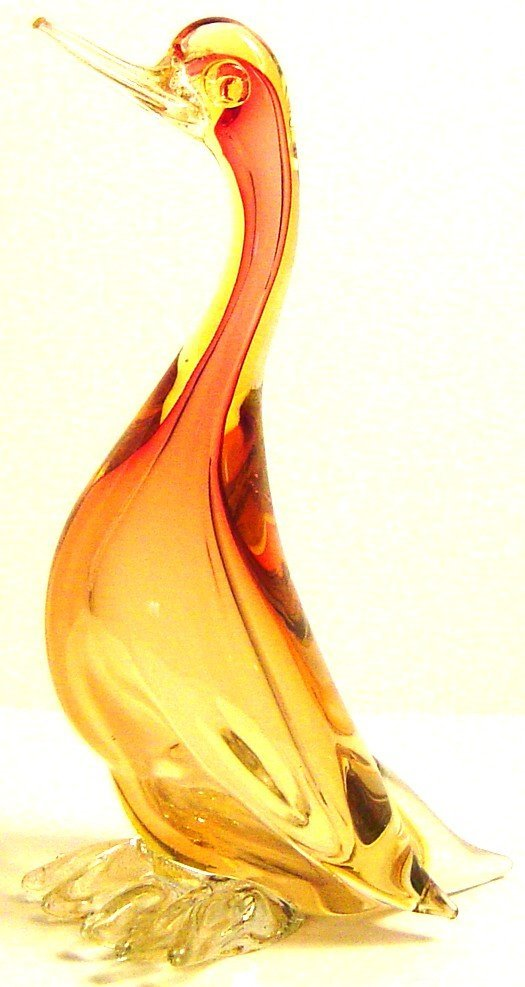 8: VENETIAN GLASS DUCK ALFICDO BARBINI