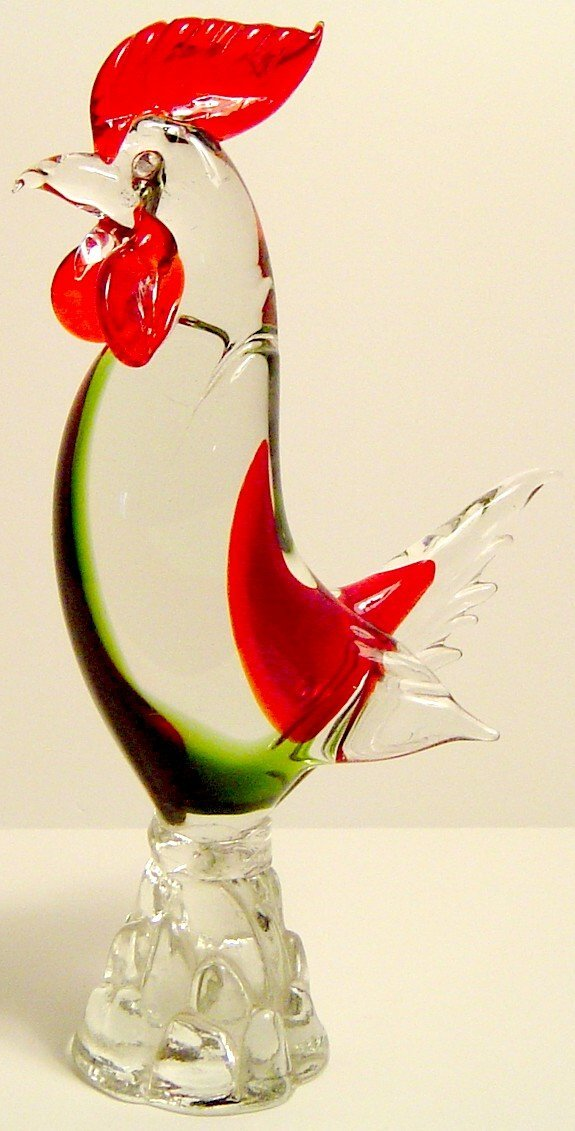 "9: MURANO GLASS ROOSTER 12"" CIRCA 1960"