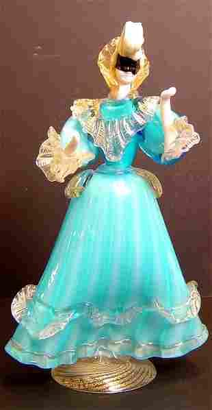 """MURANO GLASS FEMALE FIGURE, 10 1/2"""" CIRCA 1950"""