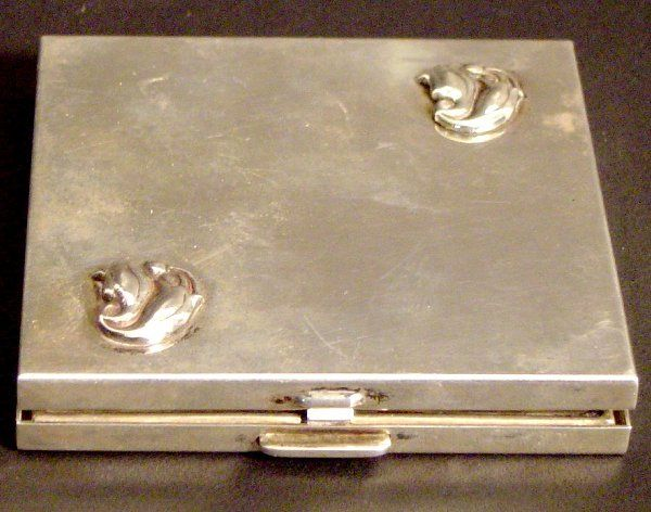 SIGNED GEORG JENSEN STERLING COMPACT