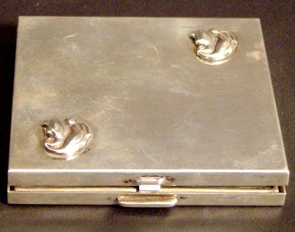 21: SIGNED GEORG JENSEN STERLING COMPACT