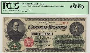 Fr. 16 1862 $1 Legal Tender