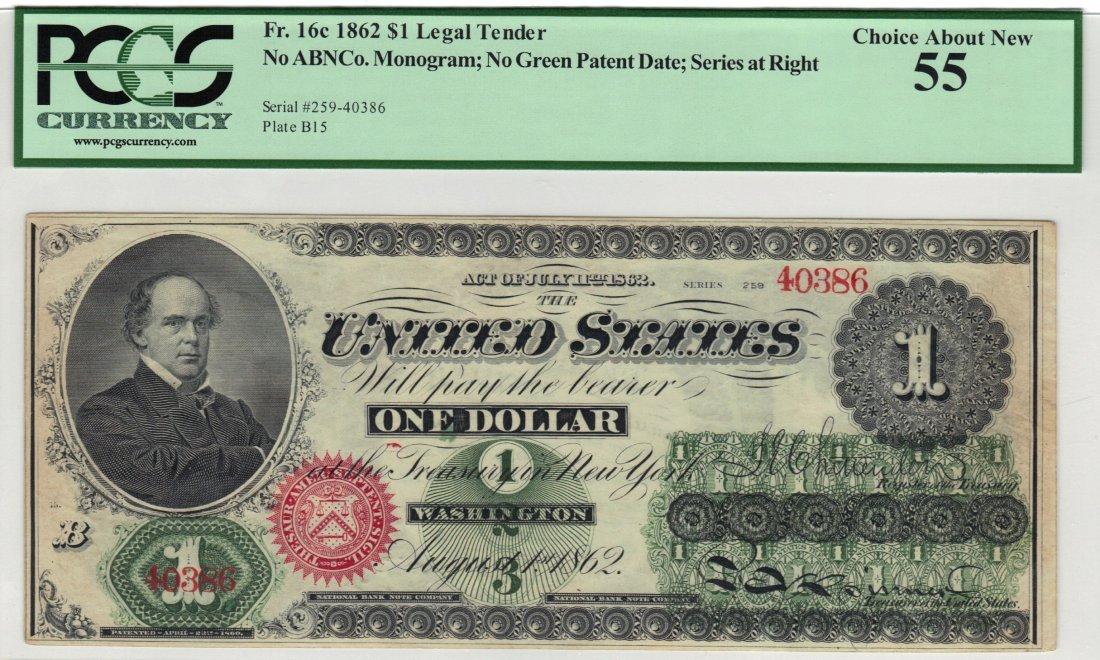 Fr. 16c 1862 $1 Legal Tender