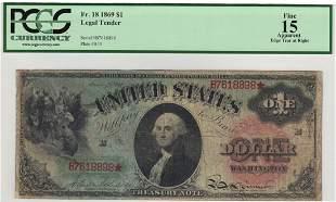 Fr. 18 1869 $1 Legal Tender