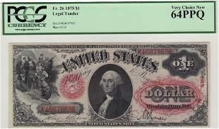 Fr. 26 1875 $1 Legal Tender