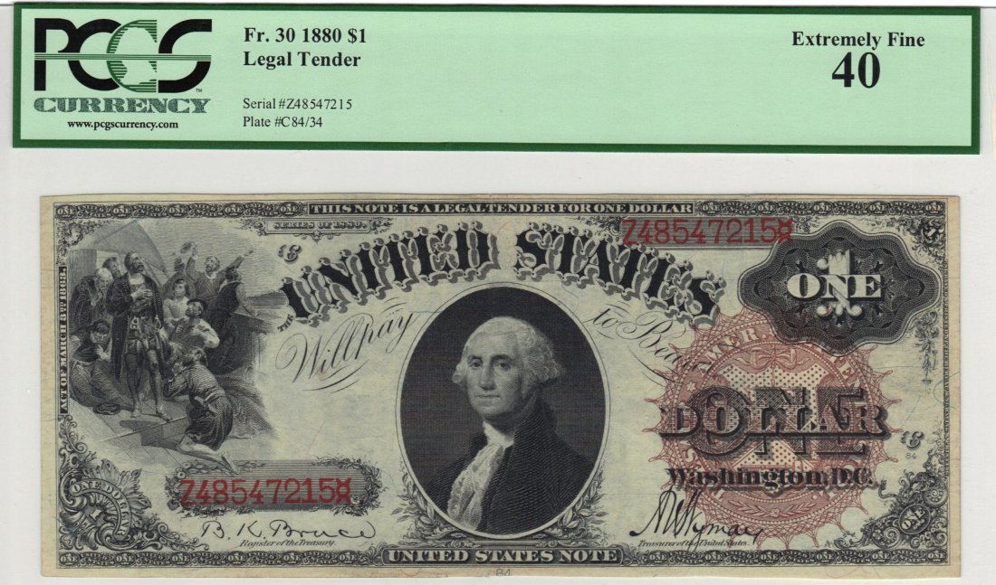 Fr. 30 1880 $1 Legal Tender