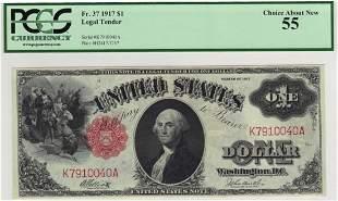 Fr. 37 1917 $1 Legal Tender