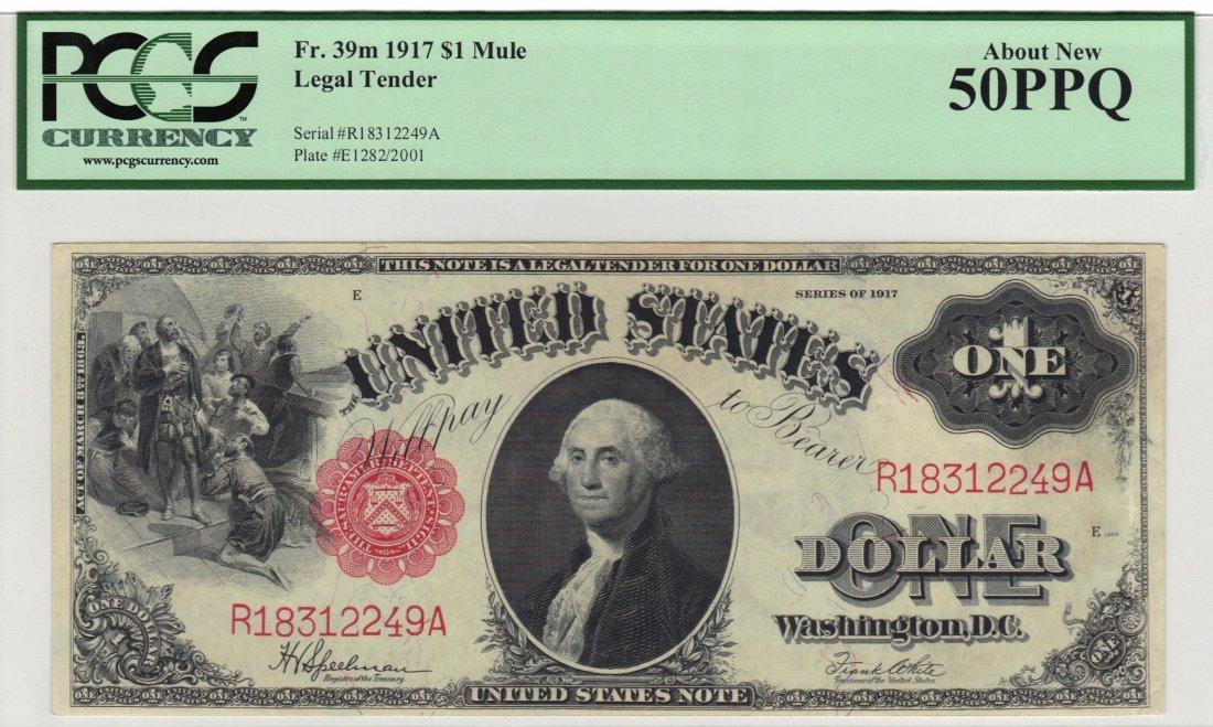 Fr. 39m 1917 $1 Legal Tender