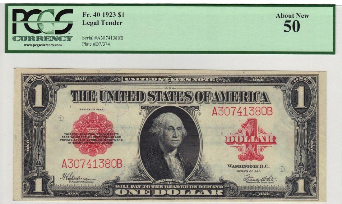 Fr. 40 1923 $1 Legal Tender