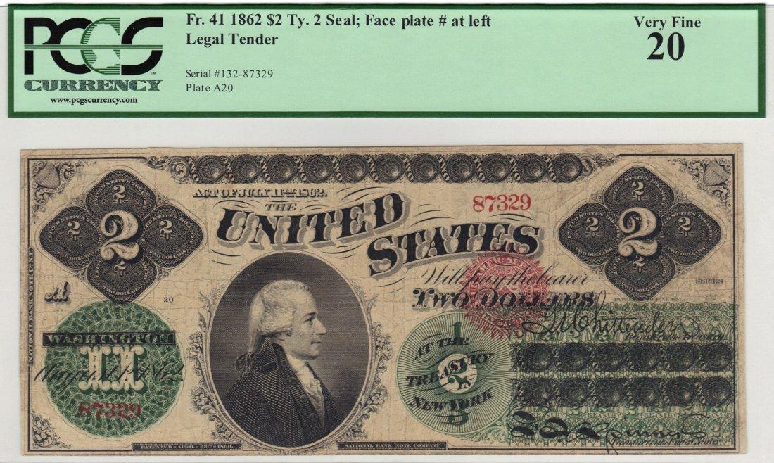 Fr. 41 1862 $2 Legal Tender