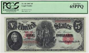 Fr. 83 1907 $5 Legal Tender