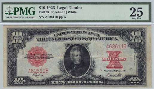 Fr. 123 1923 $10 Legal Tender