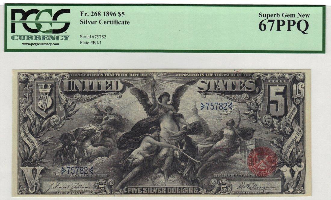 Fr. 268 1896 $5 Silver Certificate