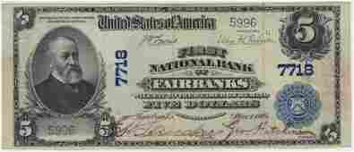 Fairbanks, AK 1902 $5 Blue Seal PB