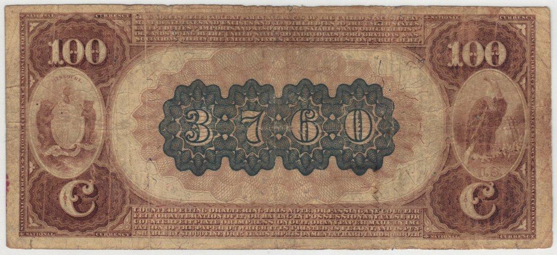 Kansas City, MO 1882 $100 Brown Back - 2