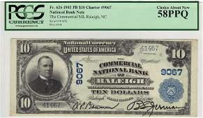 Raleigh, NC 1902 $10 Blue Seal PB