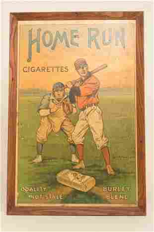 Home Run Cigarettes Lithographed Advertising