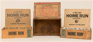 Lot of 3 Baseball Related Cigar Boxes