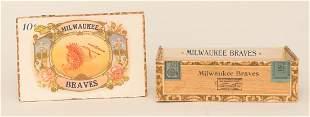 Milwaukee Braves Cigar Box