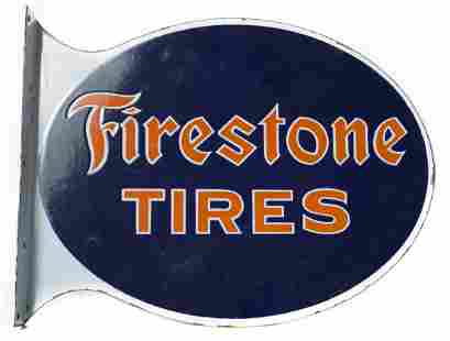 Firestone Tires Die Cut Flange Sign #1