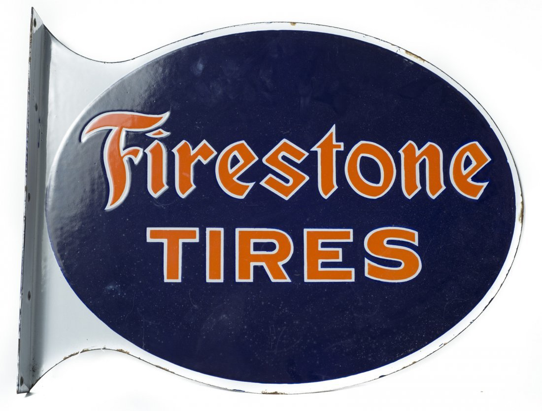 Firestone Tires Die Cut Flange Sign #1