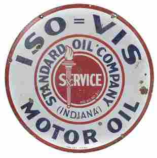 Iso-Vis Gas & Oil Sign