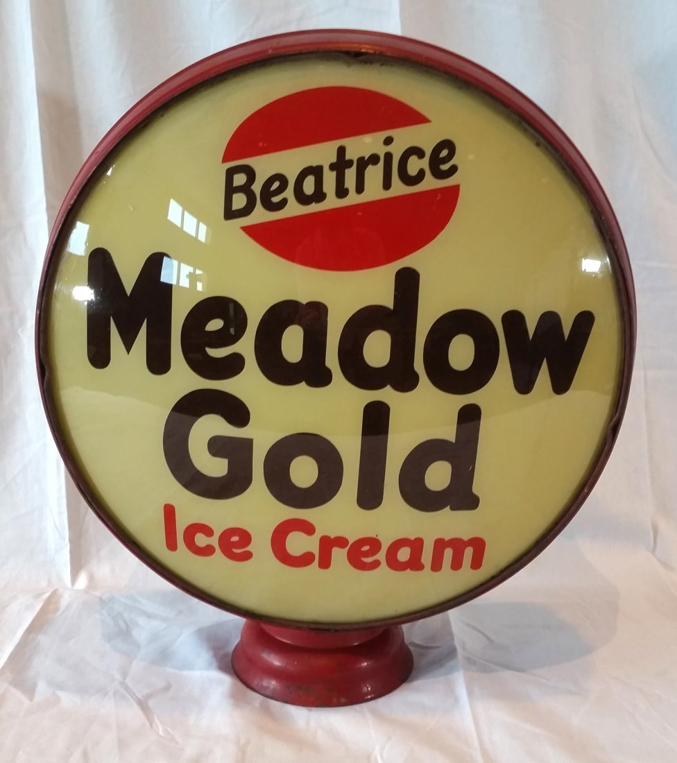 Beatrice Meadow Gold Ice Cream Advertising Globe