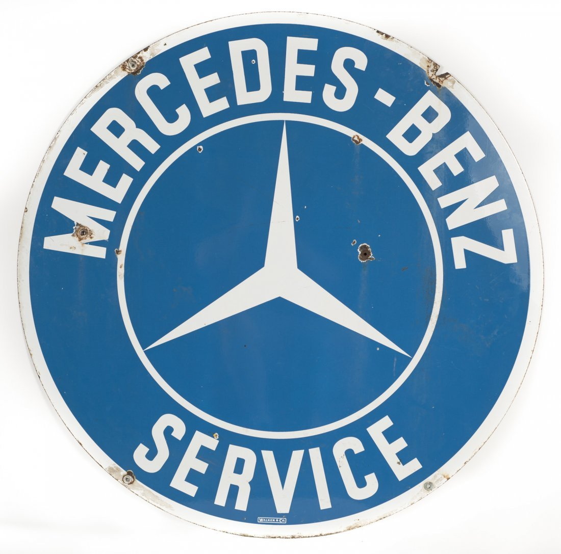 Early Mercedes Benz Service Porcelain Sign