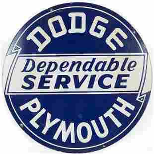 Dodge Plymouth Dependable Service Sign