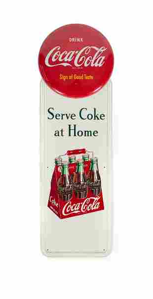 Coca Cola Pilaster Sign with Button