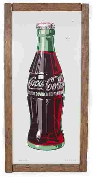 Framed Coca Cola Sign