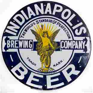 Indianapolis Beer Porcelain Sign