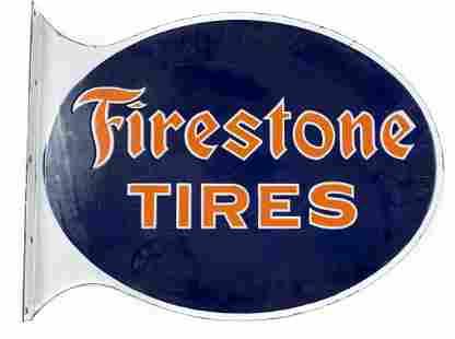 Firestone Tires Die Cut Flange Sign #2