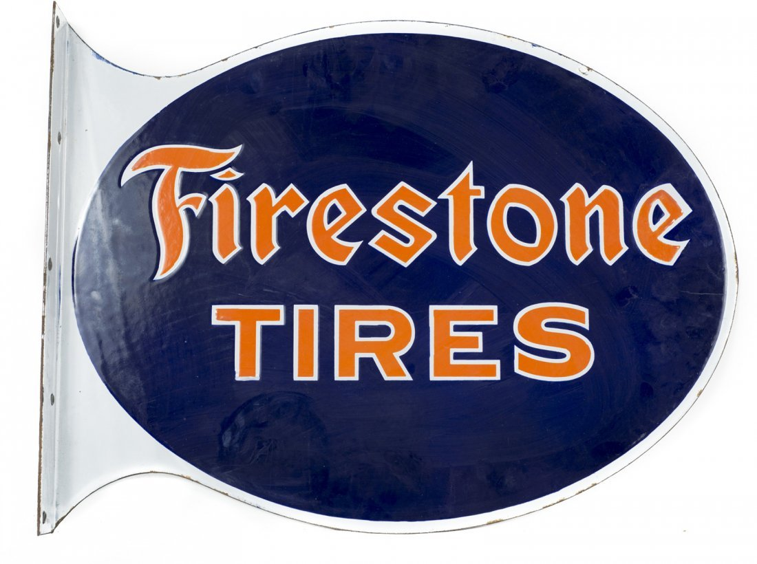 Firestone Tires Die Cut Flange Sign #2