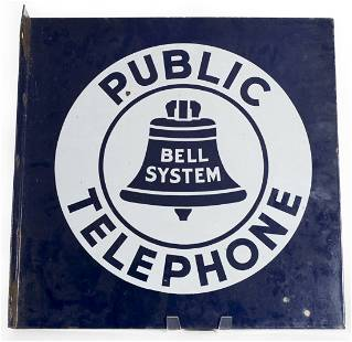 Large Bell Telephone Flange Sign