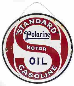 Polarine Motor Oil / Standard Gasoline Sign