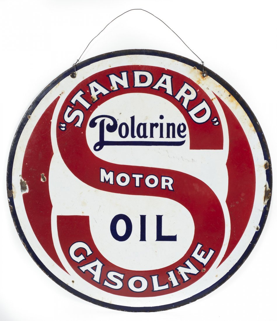 Polarine Motor Oil / Standard Gasoline Sign