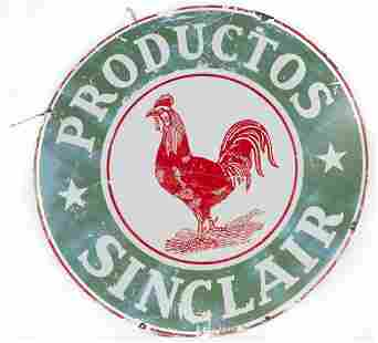 Productos Sinclair Gasoline Rooster Sign