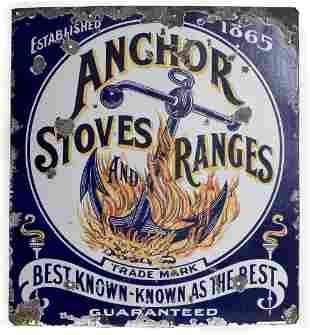 Anchor Stoves & Ranges Porcelain Sign