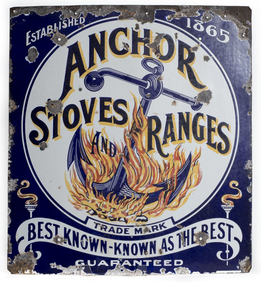 Anchor Stoves & Ranges Porcelain Sign